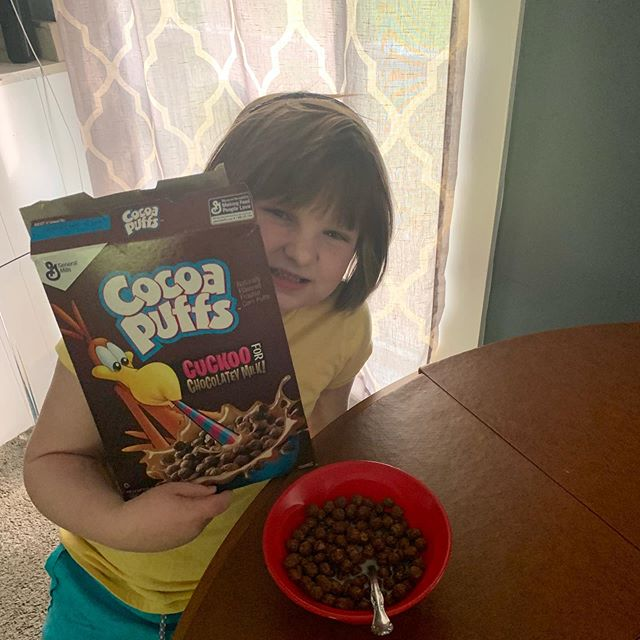Coco eating #cocopuffs
