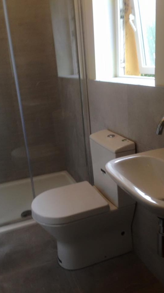 Bathroom renovation sink toilet  shower