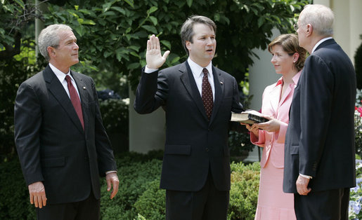 Swearing-in Ceremony for Brett Kavanaugh to the U.S. Court of Appeals for the District of Columbia. Oval. Rose Garden. (Photo cred: Eric Draper)