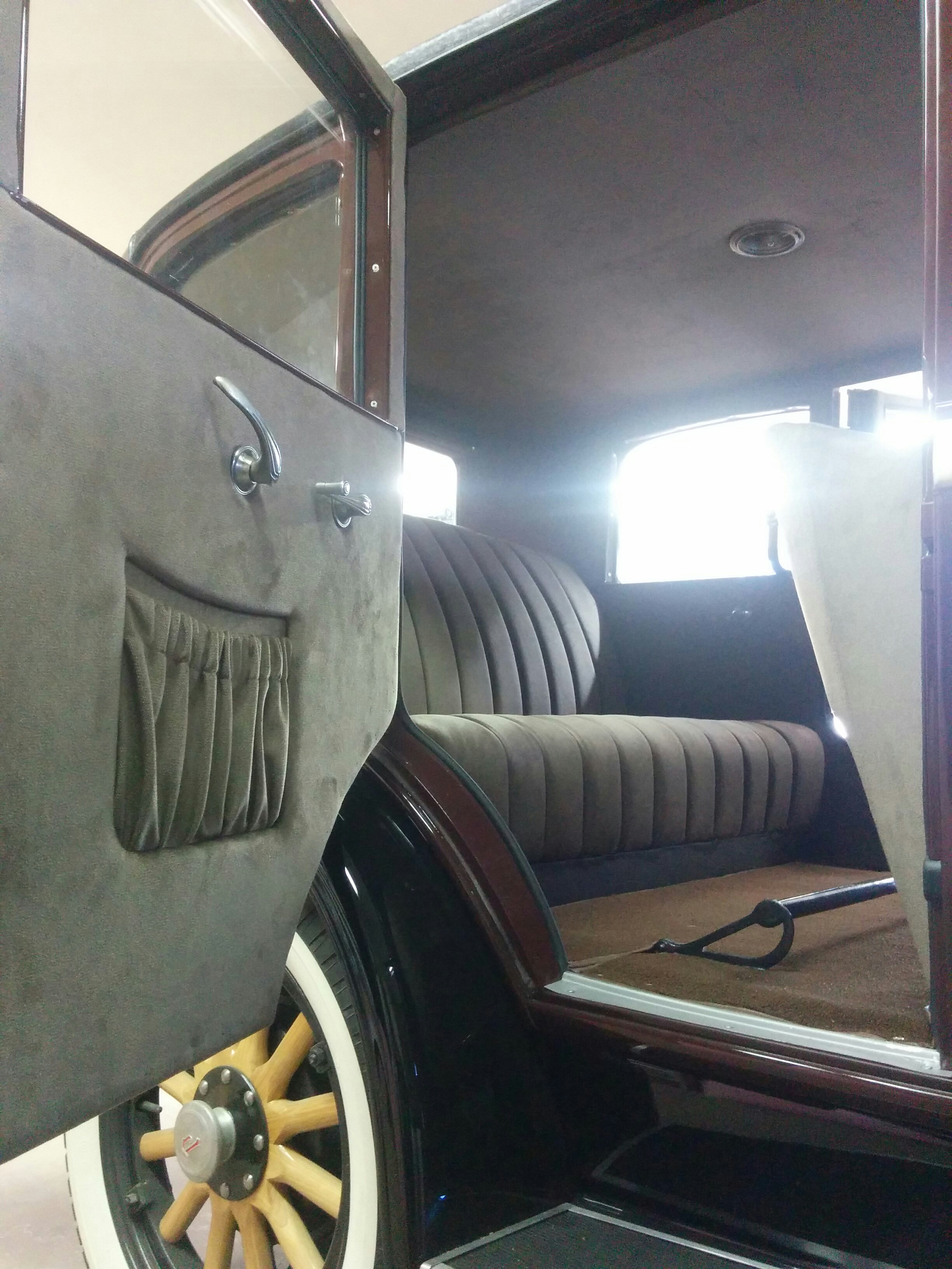 A close up of the detail work on those door panels and seats
