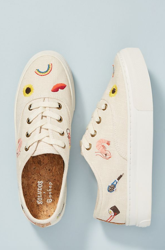 Soludos x Baobap Embroidered Porto Sneakers