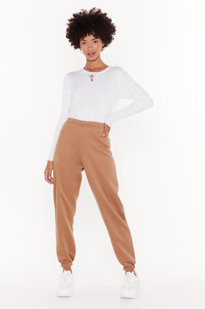 Nasty Gal Tan Sweats