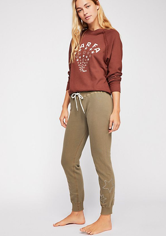 Free People Army Star Sweats