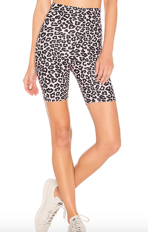 Revolve Cheetah Biker Shorts