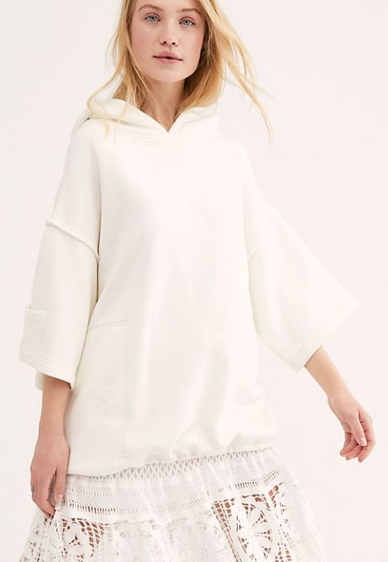 Free People White Oversized Fit