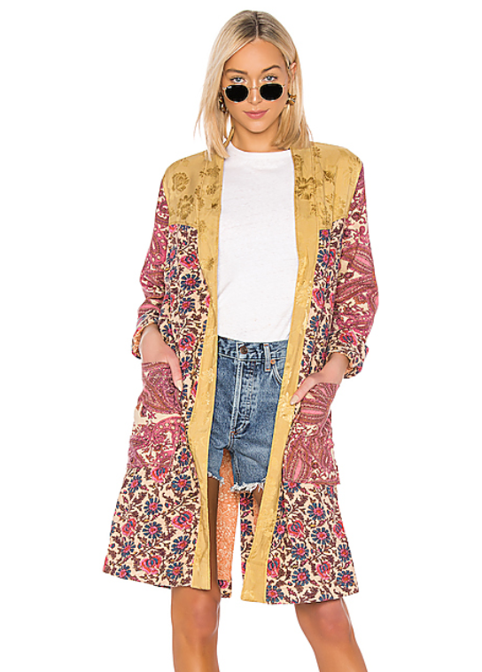 Free People Maggie Patched Duster