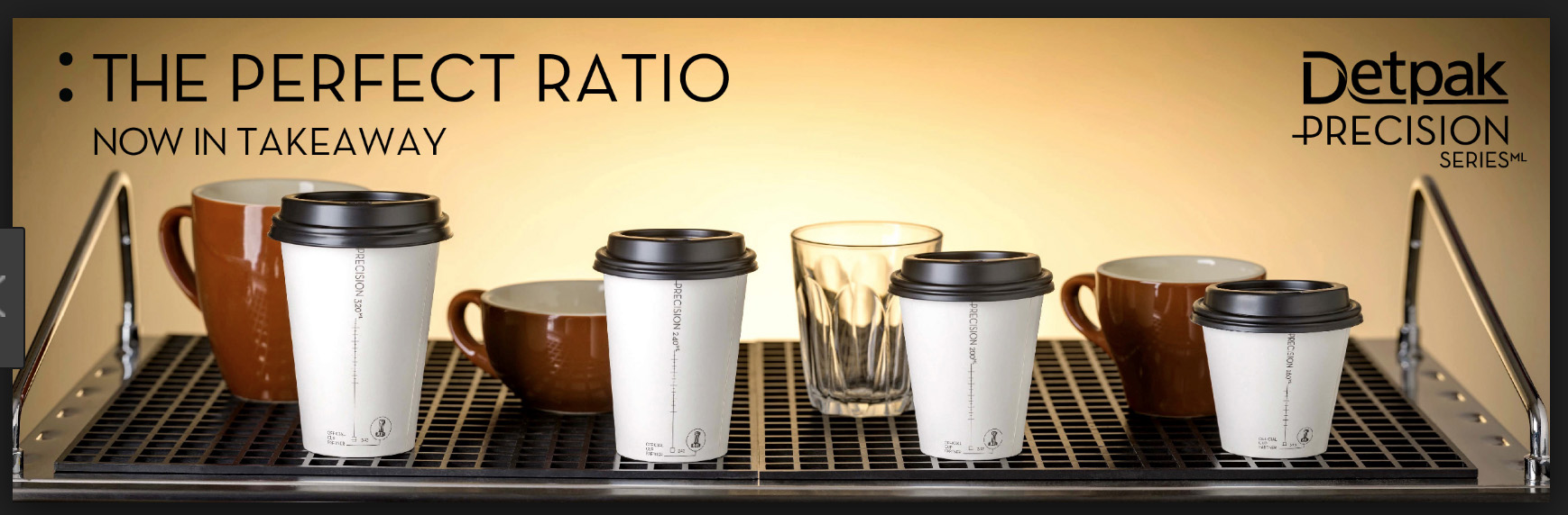 Precision Series take-out coffee cups provide the right proportion of milk to espresso, giving you the flavor experience you expect