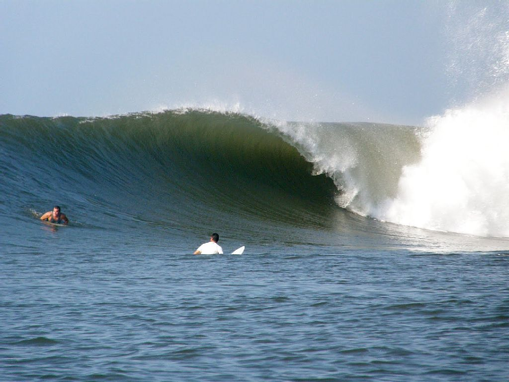 The wave in front of the Punta Mango Missionary Guest House
