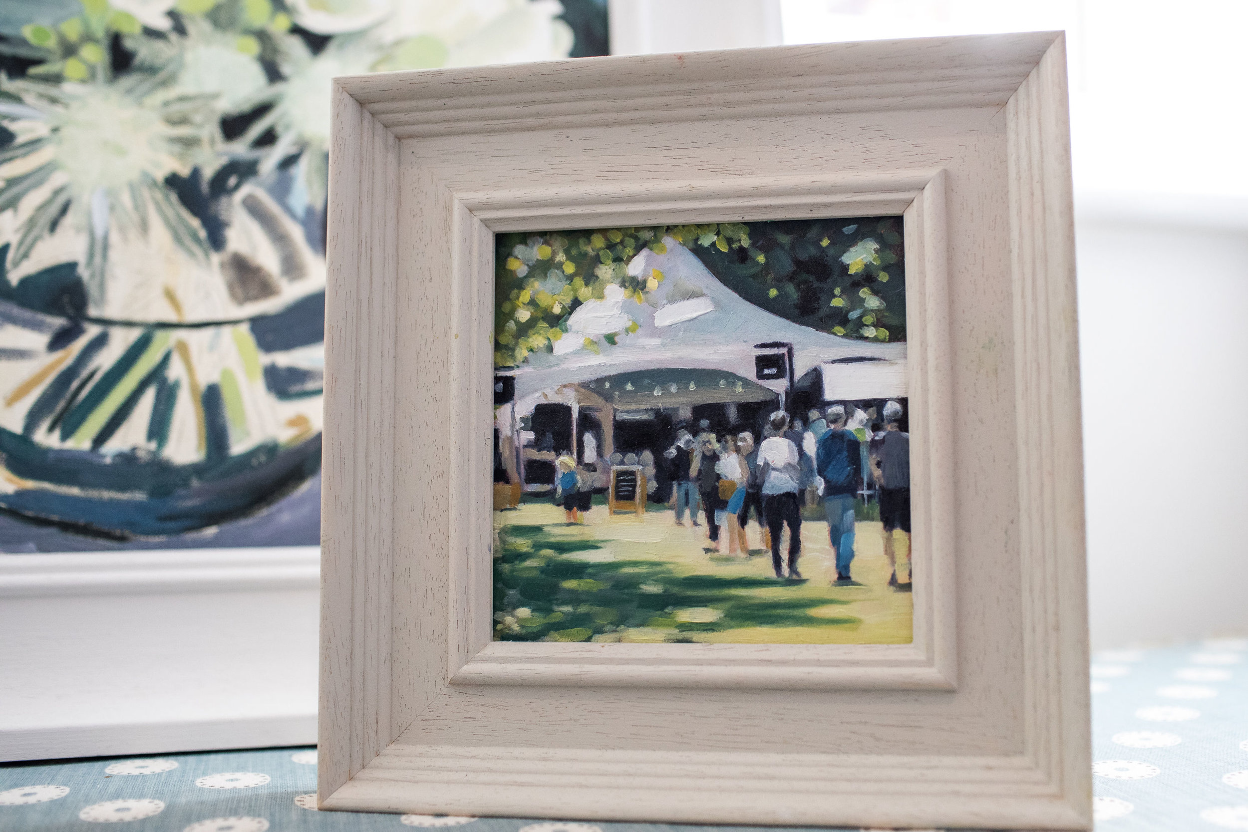 Pub In The Park Oil Painting