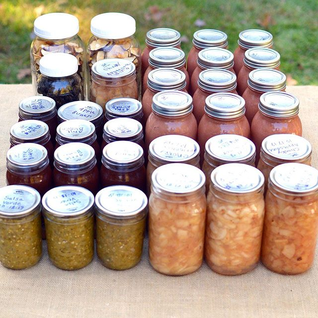 Applesauce, apple butter, salsa verde, chunky applesauce, dried apples, and dried peppers ☑️ . I've done all these in the last week and I'll be honest, I'm getting tired of canning and preserving. It's definitely that time of year because I've had so many months of working at it nonstop. . I still will pressure can some soups and vegetable stock once my carrots are ready and beans once I get them all shucked. But I'm getting really close to being done for the season! It's bitter-sweet! . Are you finished preserving for the season or still working on it?
