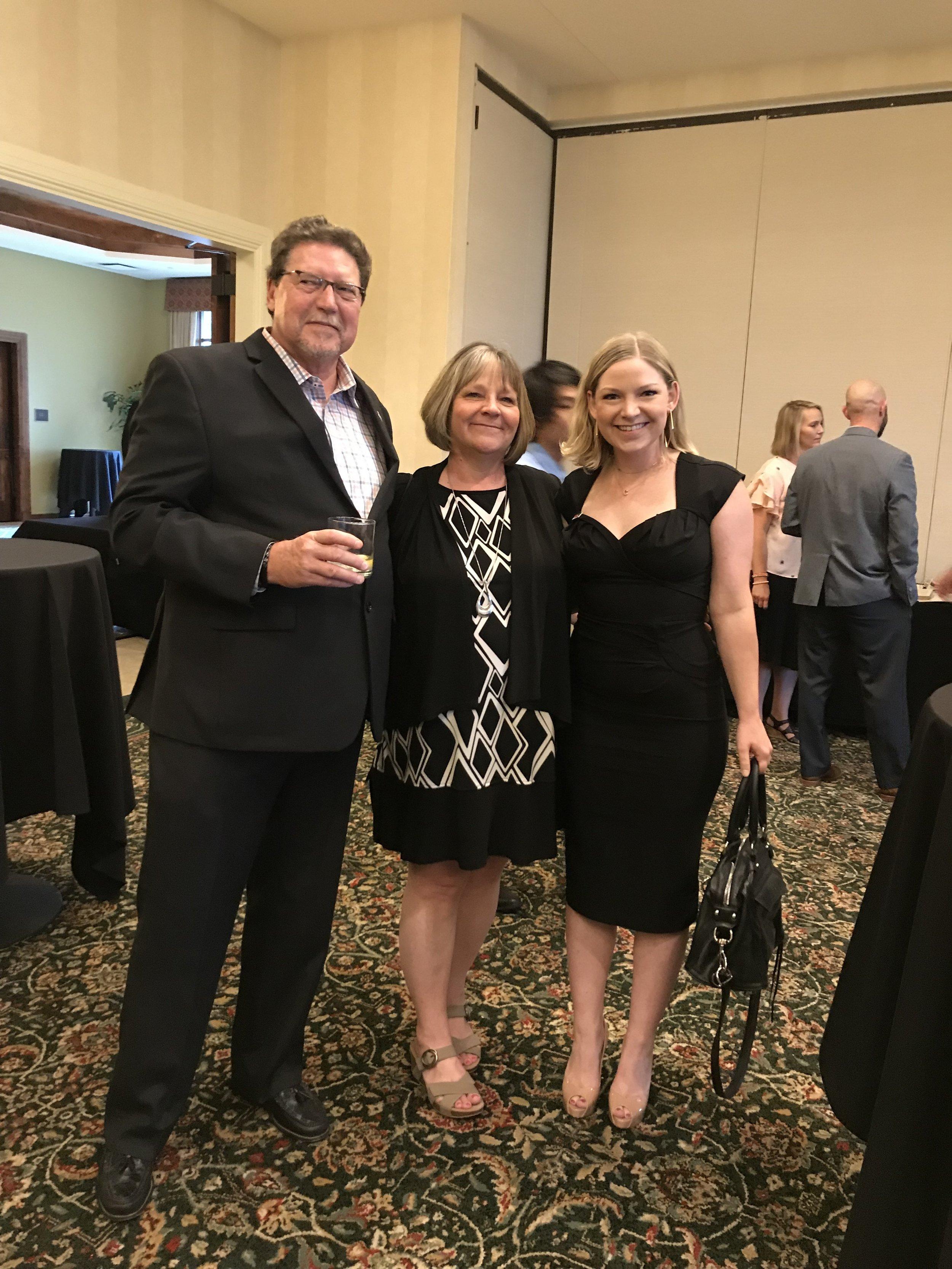 Steve, Phyllis, and Hannah Kane