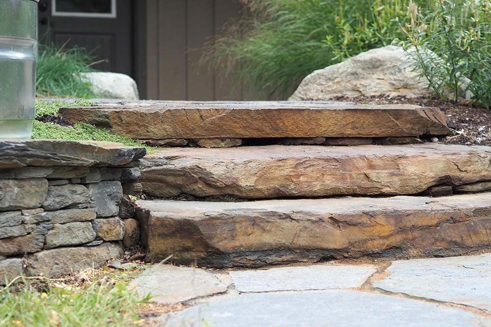 Steps made of natural stone in Pittsburgh, PA