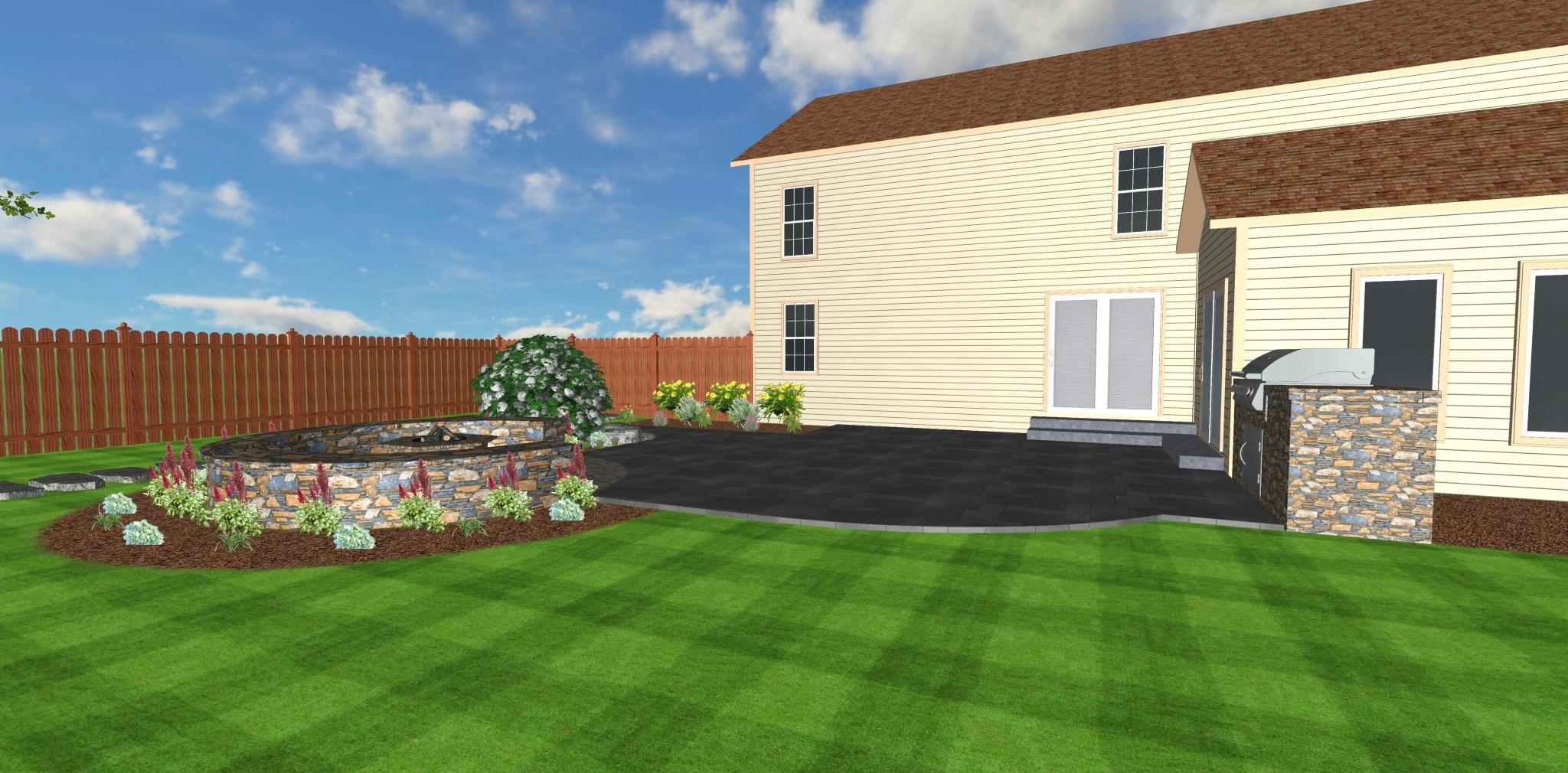 3D landscape design in Colchester, Vermont