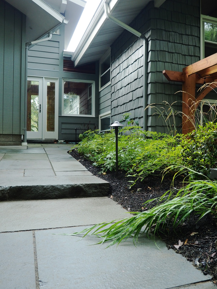 Walkway with landscape lighting in Vermont