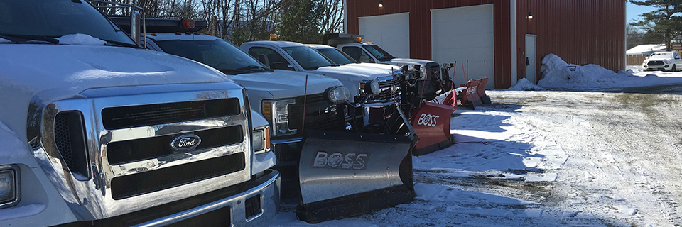 Vermont landscape maintenance, including snow removal service