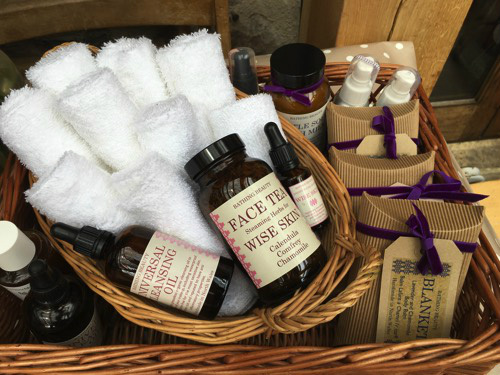 Pamper hamper and facial steam tea ceremony - for a morning of pampering – from internationally acclaimed ex-international model and osteopath Georgina Jones of Bathing-Beauty