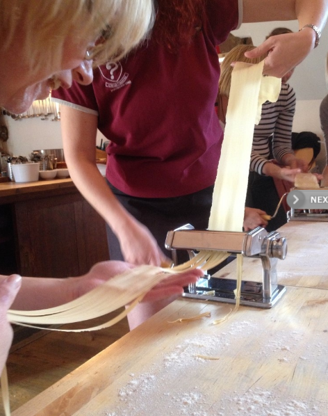 Copy of ITALIAN PASTA MAKING using pasta making equipment - great for hens or for all the family. Doughs, sauces, cheese & salads can be supplied