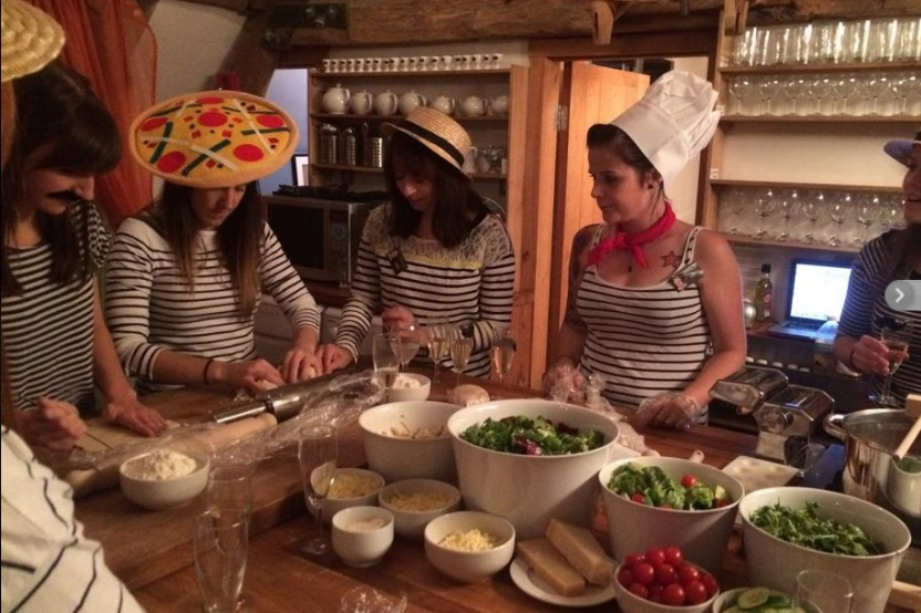 ITALIAN PASTA MAKING using pasta making equipment - great for hens or for all the family. Doughs, sauces, cheese & salads can be supplied