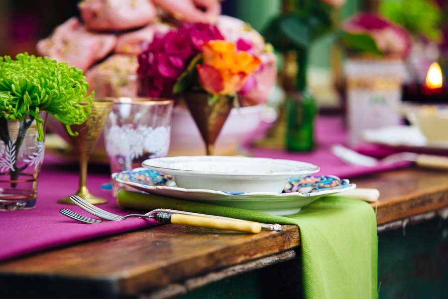 Crockery, tableware, linens & props can be hired and a full styling service is also offered by Bordello Banquets