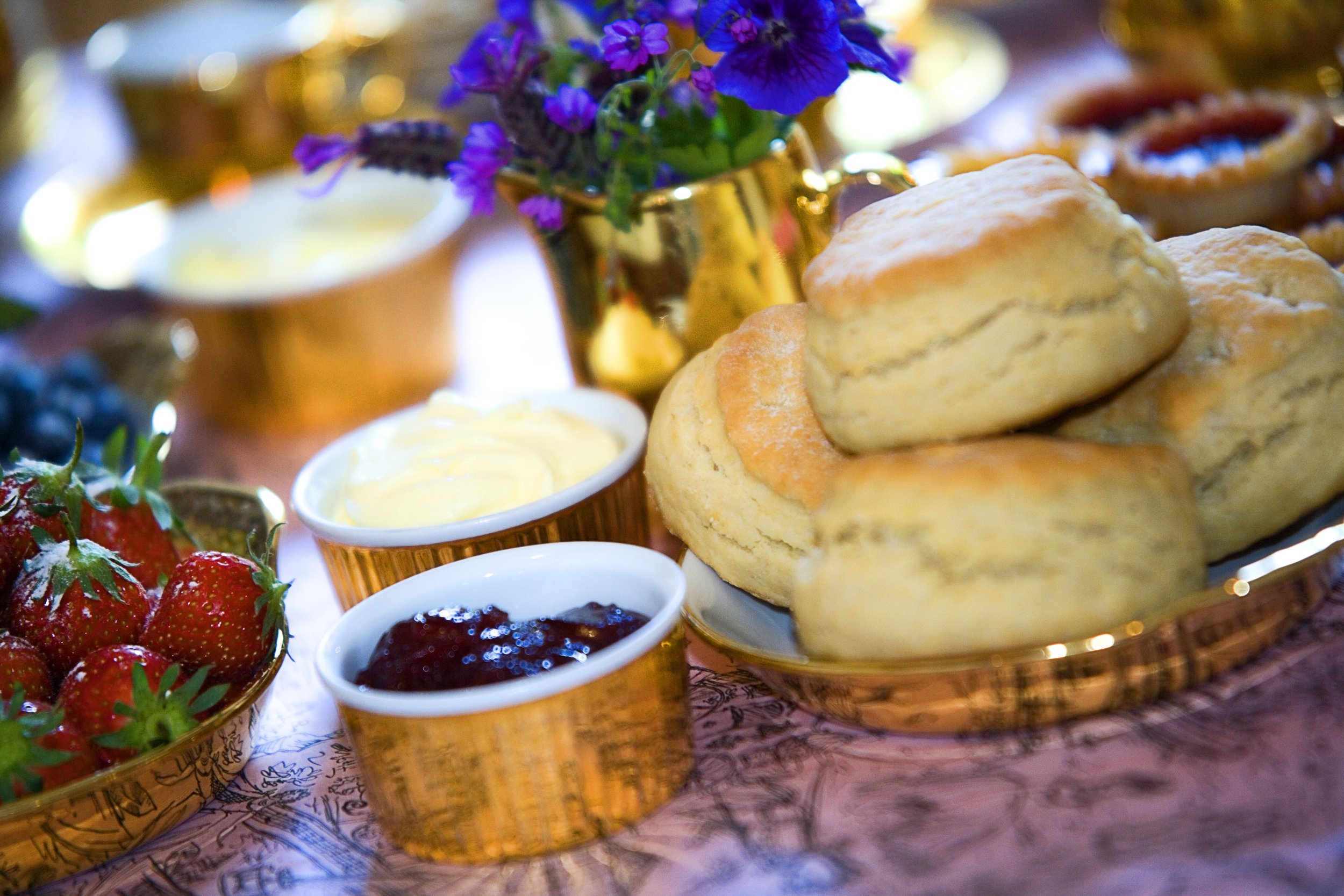 Catering & locally produced artisan food at Mill End by Bordello Banquets - afternoon cream tea