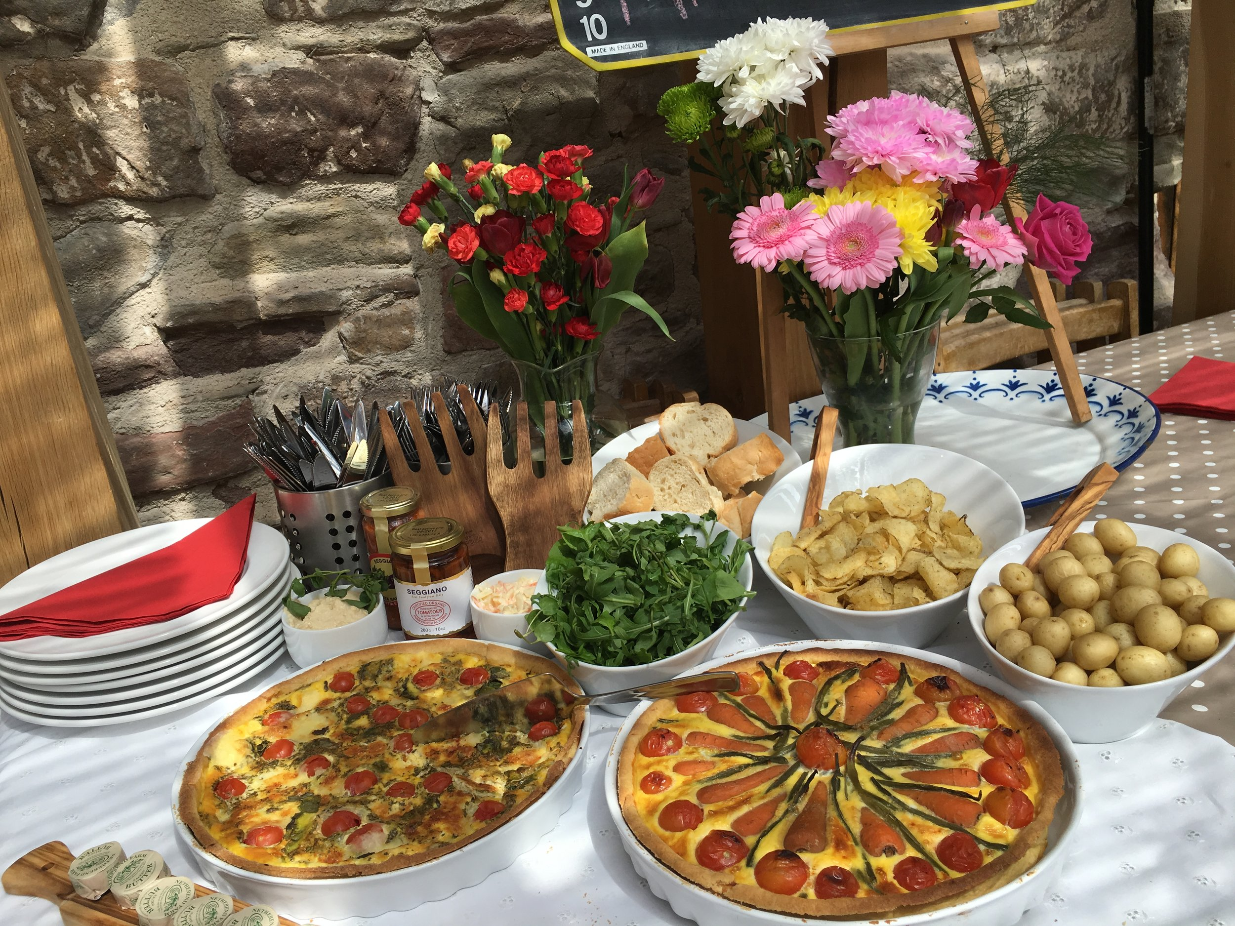 Catering & locally produced artisan food at Mill End by Bordello Banquets - Quiche buffet