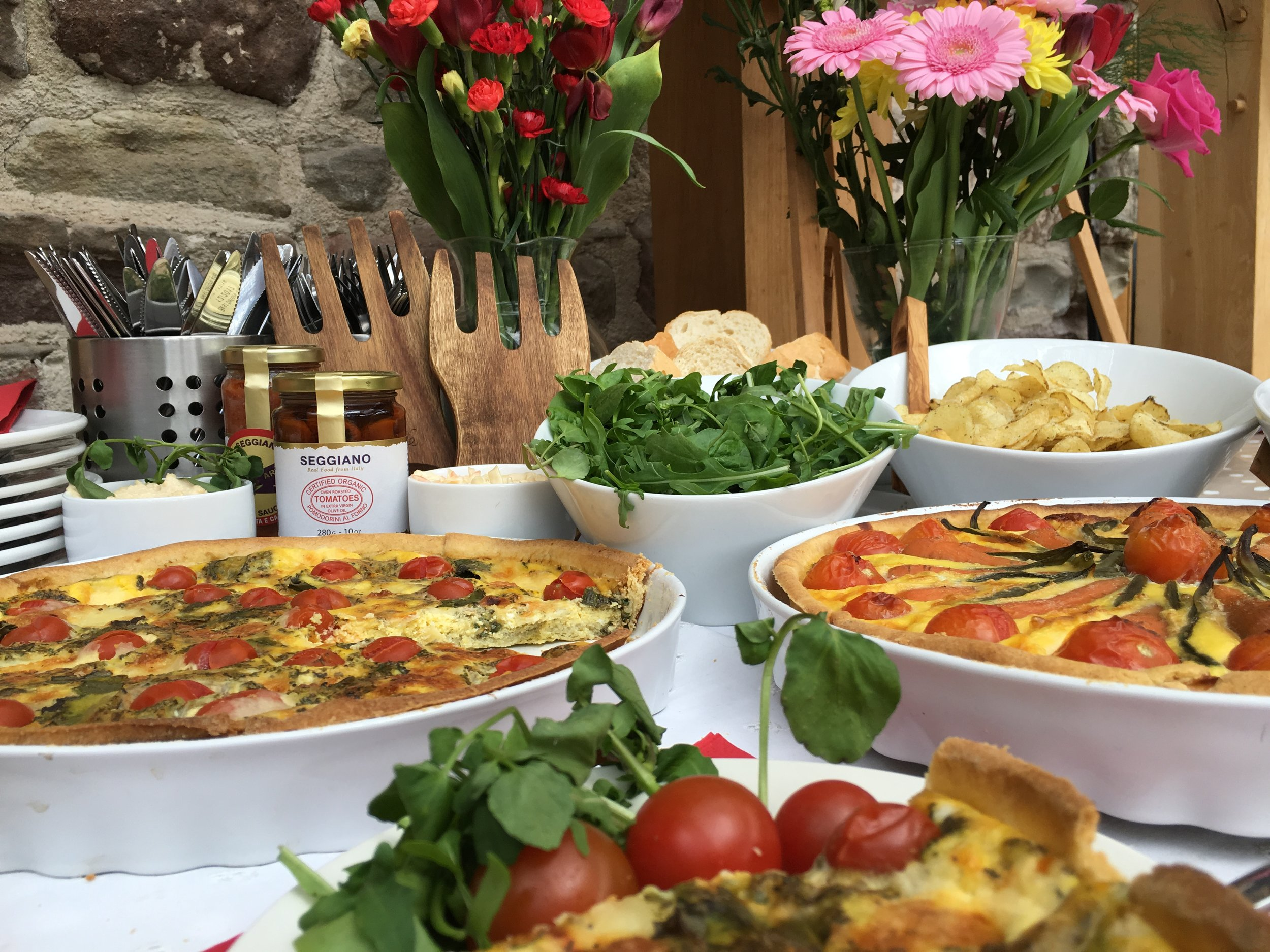 Alfresco - Bordello Banquets catering - locally produced, artisan food, stylishly displayed buffets and dinners, in a riot of colour, rich in taste.