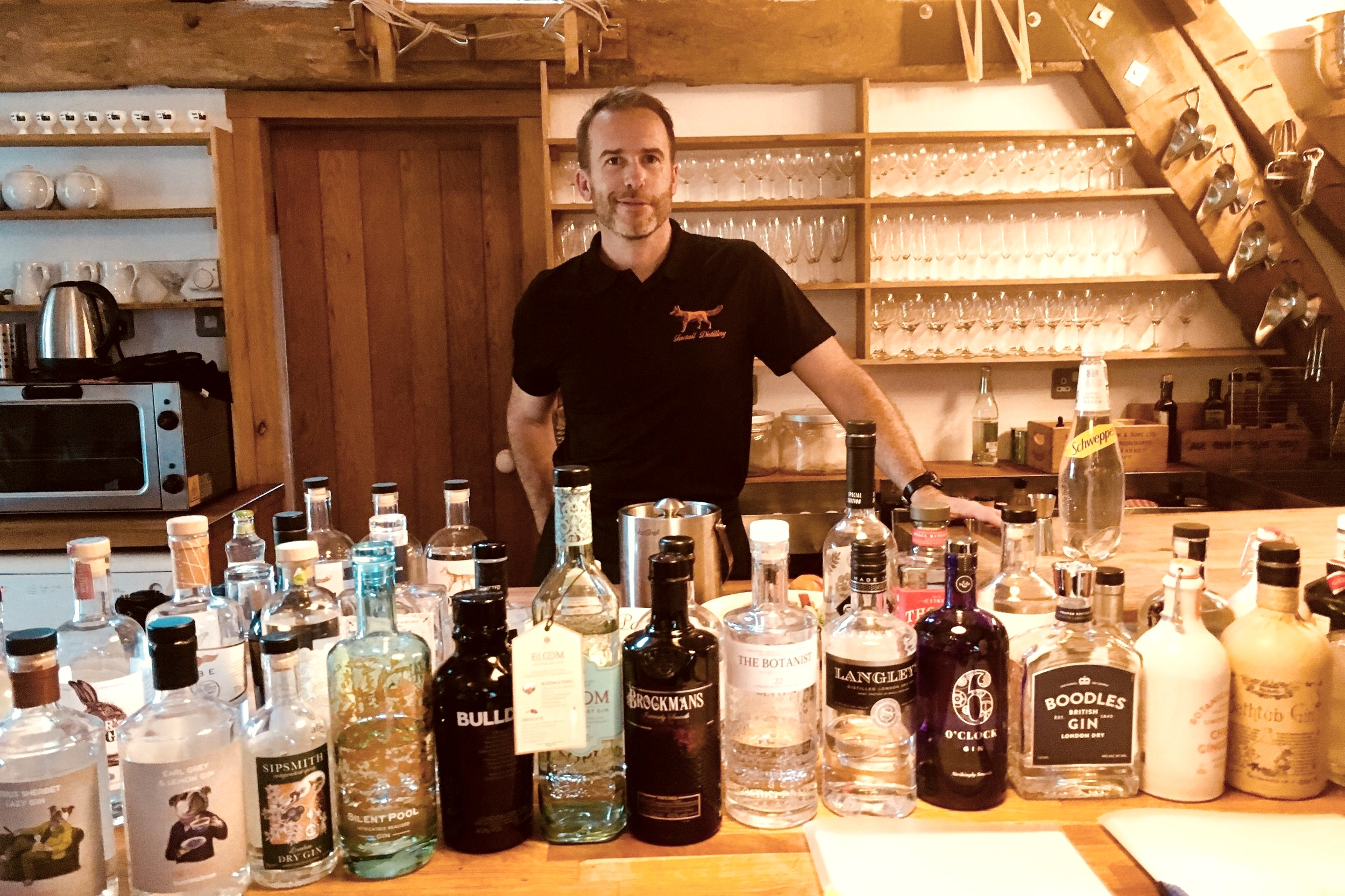 Private Gin Tasting experience with Foxtail Gin - learn about the medicinal origins of Gin & tasting approach used to describe the 'nose', 'intensity' and flavour of each, then blend your own gin.