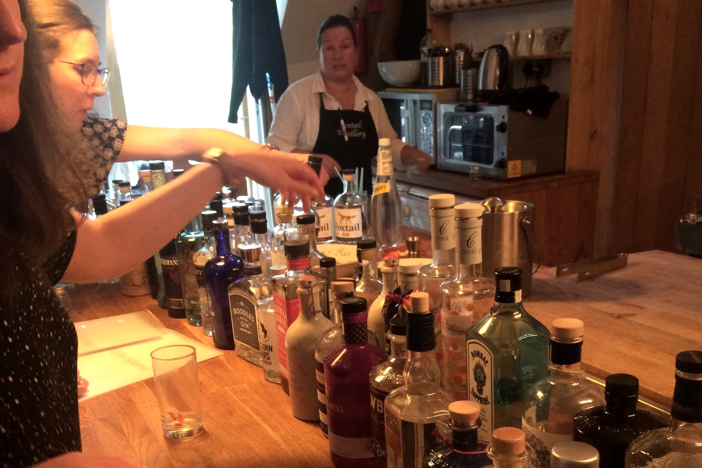 Copy of Private Gin Tasting experience with Foxtail Gin - learn about the medicinal origins of Gin & tasting approach used to describe the 'nose', 'intensity' and flavour of each, then blend your own gin.