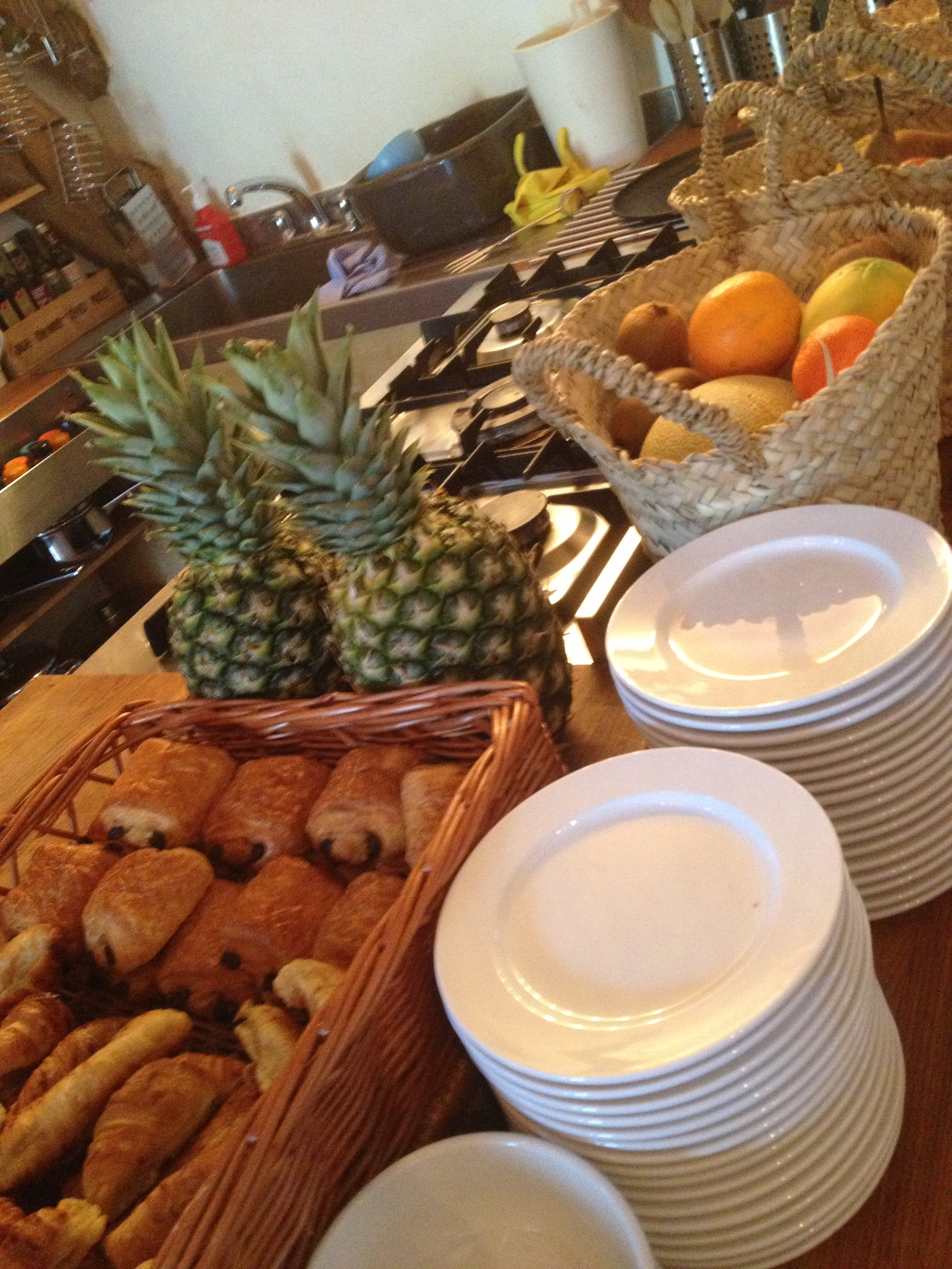 Breakfast- Bordello Banquets catering - locally produced, artisan food, stylishly displayed buffets & food , in a riot of colour, rich in taste.