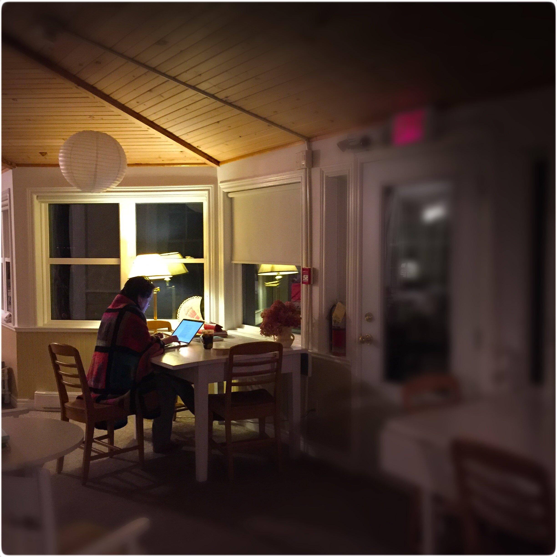 Margaret writing.JPG