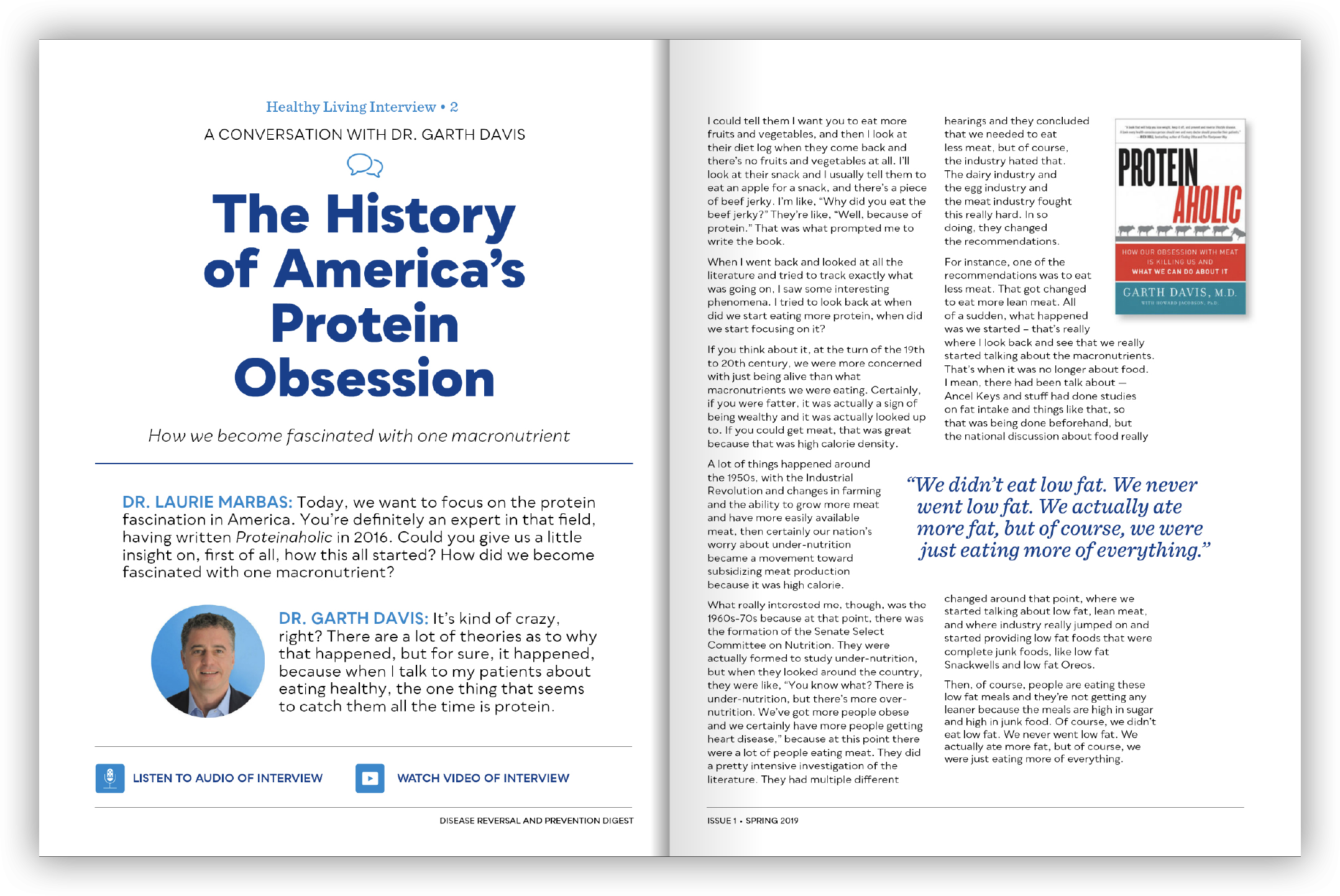 The History of America's Protein Obsession - Garth Davis, MD