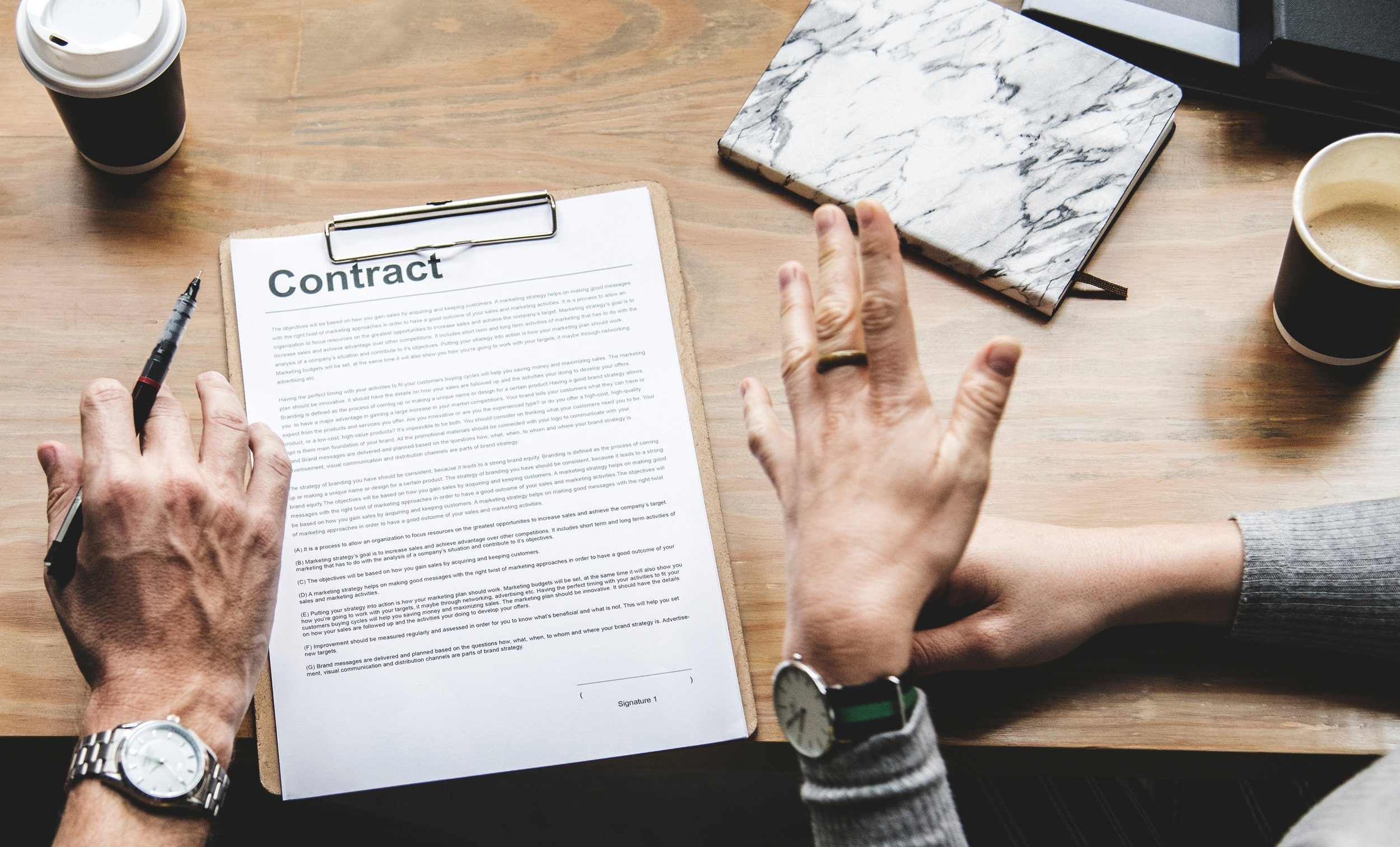 We have over two decades of experience in contract negotiation, saving clients millions of dollars in unnecessary costs. -
