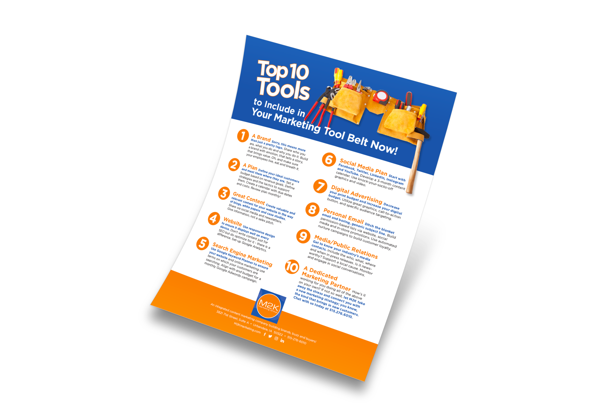 Free Download! - Complete the form below to receive our Top Ten Tools for Your 2019 Marketing Tool Belt.