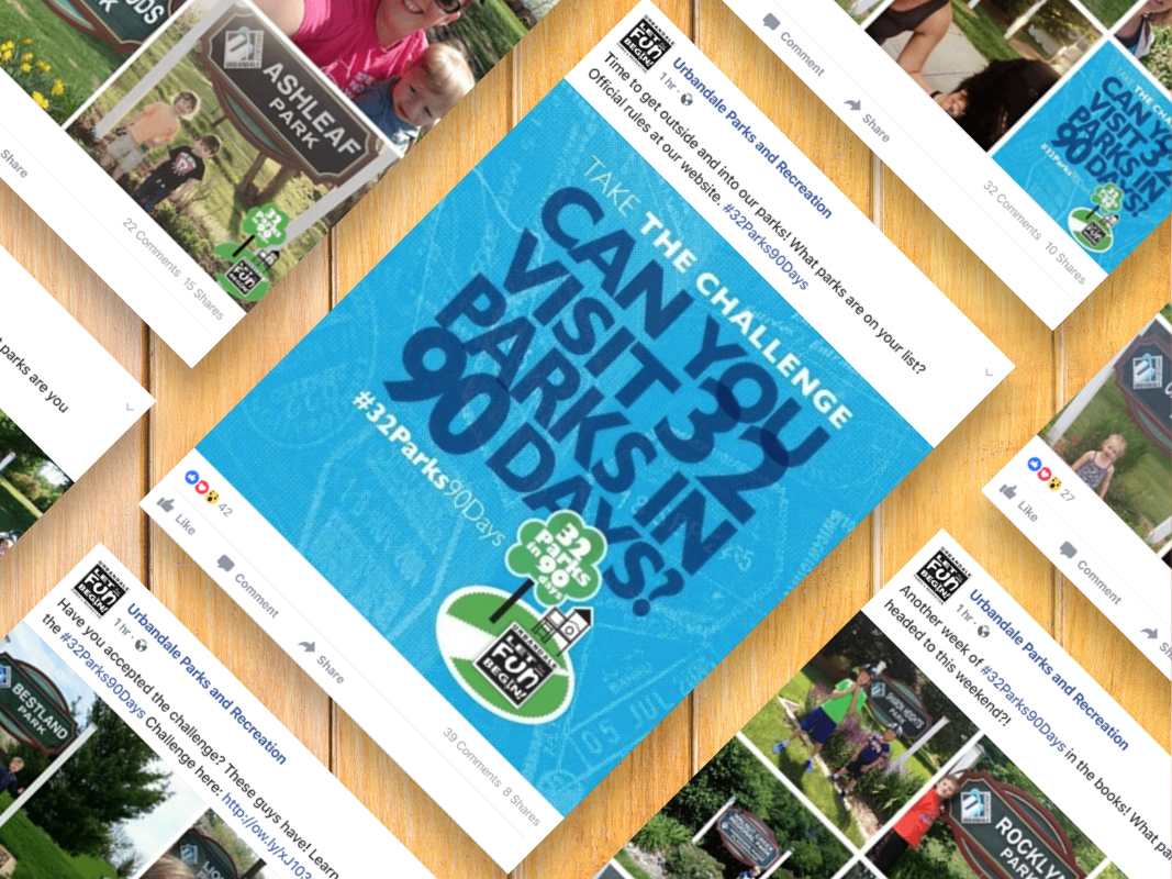 Urbandale Parks and Recreation — 32 Parks in 90 Days Social Media Campaign
