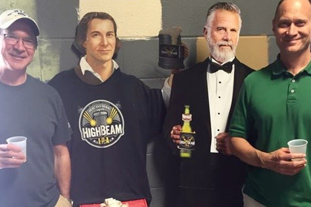 Left to right: Bob Crutchfield, Sam Adams, the (former) Most Interring Man in the World, James Crutchfield