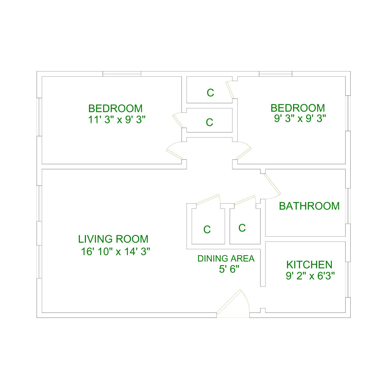 2 Bedroom -