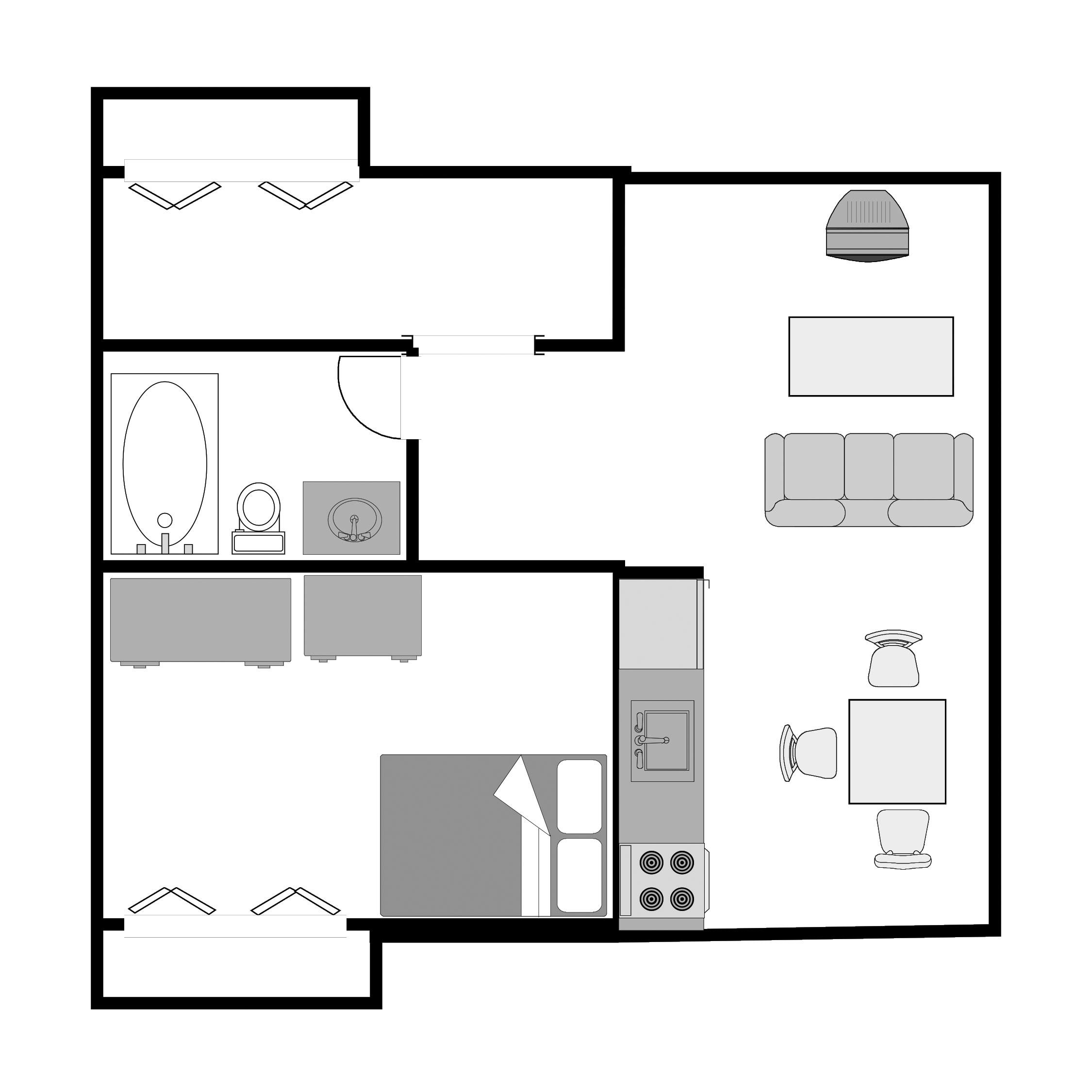 1 Bedroom -