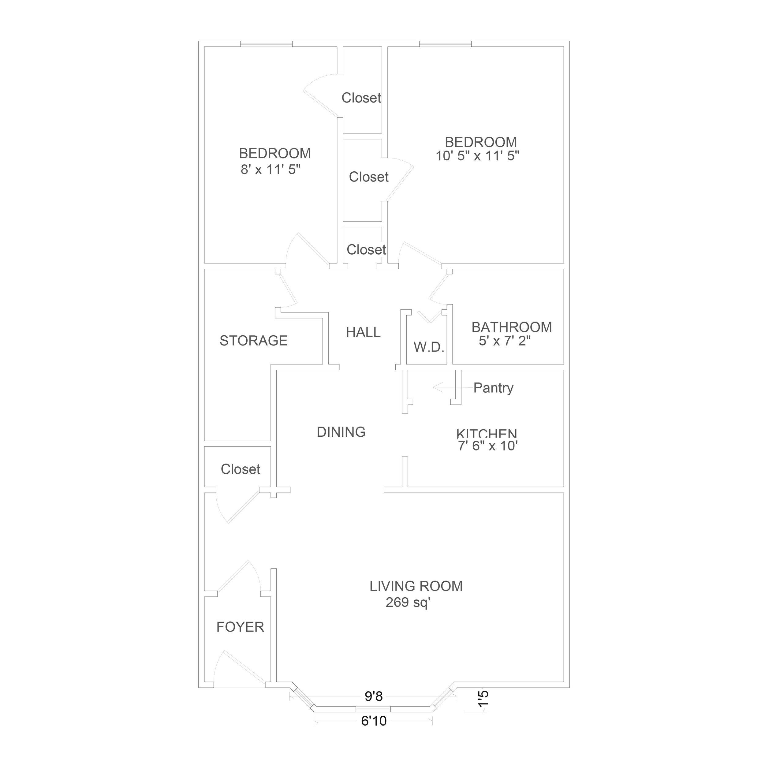 2 Bedroom Lower -
