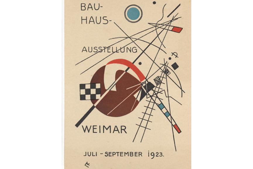 "Wassily Kandinsky - Postcard for ""Bauhaus Exhibition Weimar July - September 1923"" (1923)"
