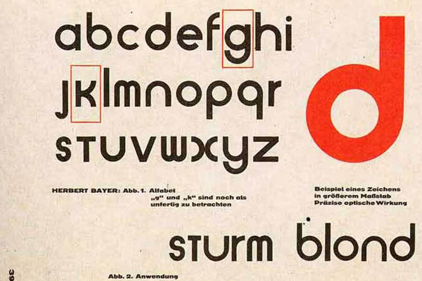 Herbert Bayer's Universal Alphabet (1925)