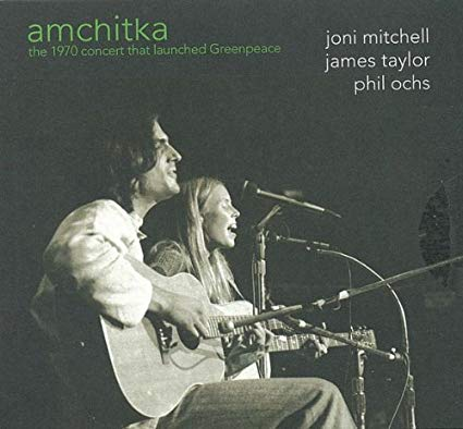 The cover to the live recording of the Amchitka concert. Still available for purchase and full of Joni Mitchell.