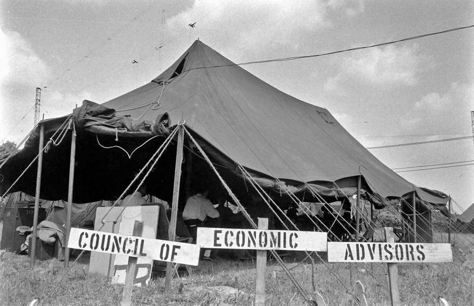 The evacuation camp for Operation Alert.