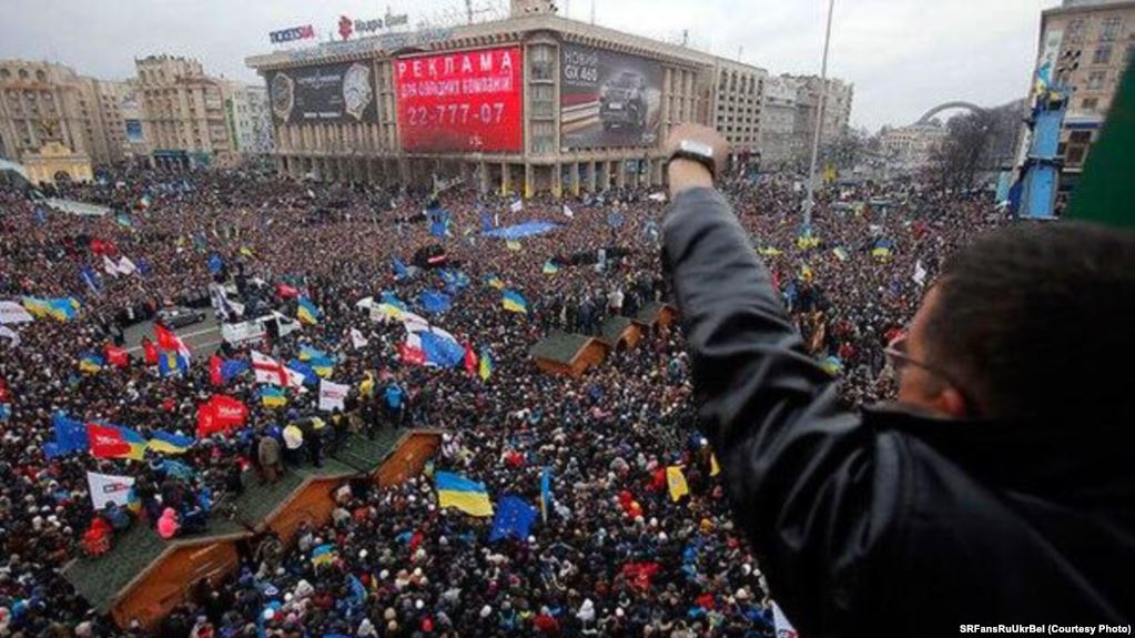 The EuroMaidan protests in 2013 to 2014.