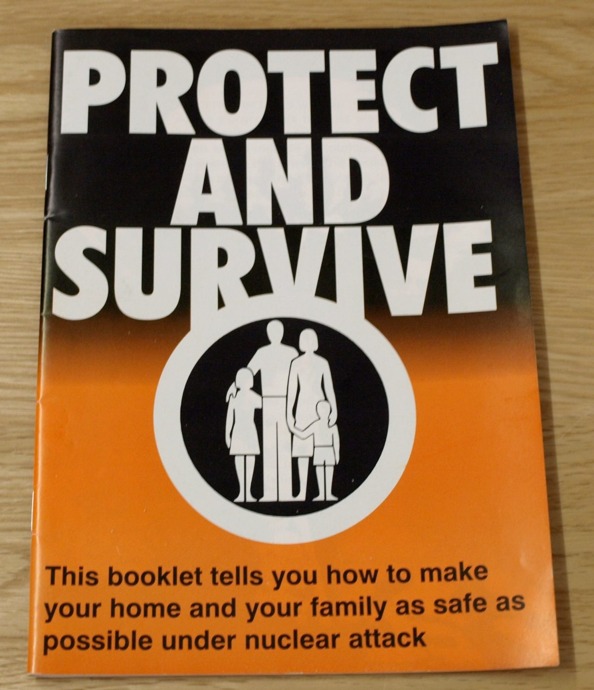 "The original ""Protect and Survive"" booklet distributed by the Home Office, UK."