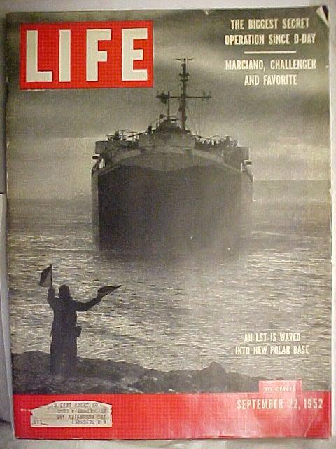 LIFE Magazine cover, 22 September 1952.