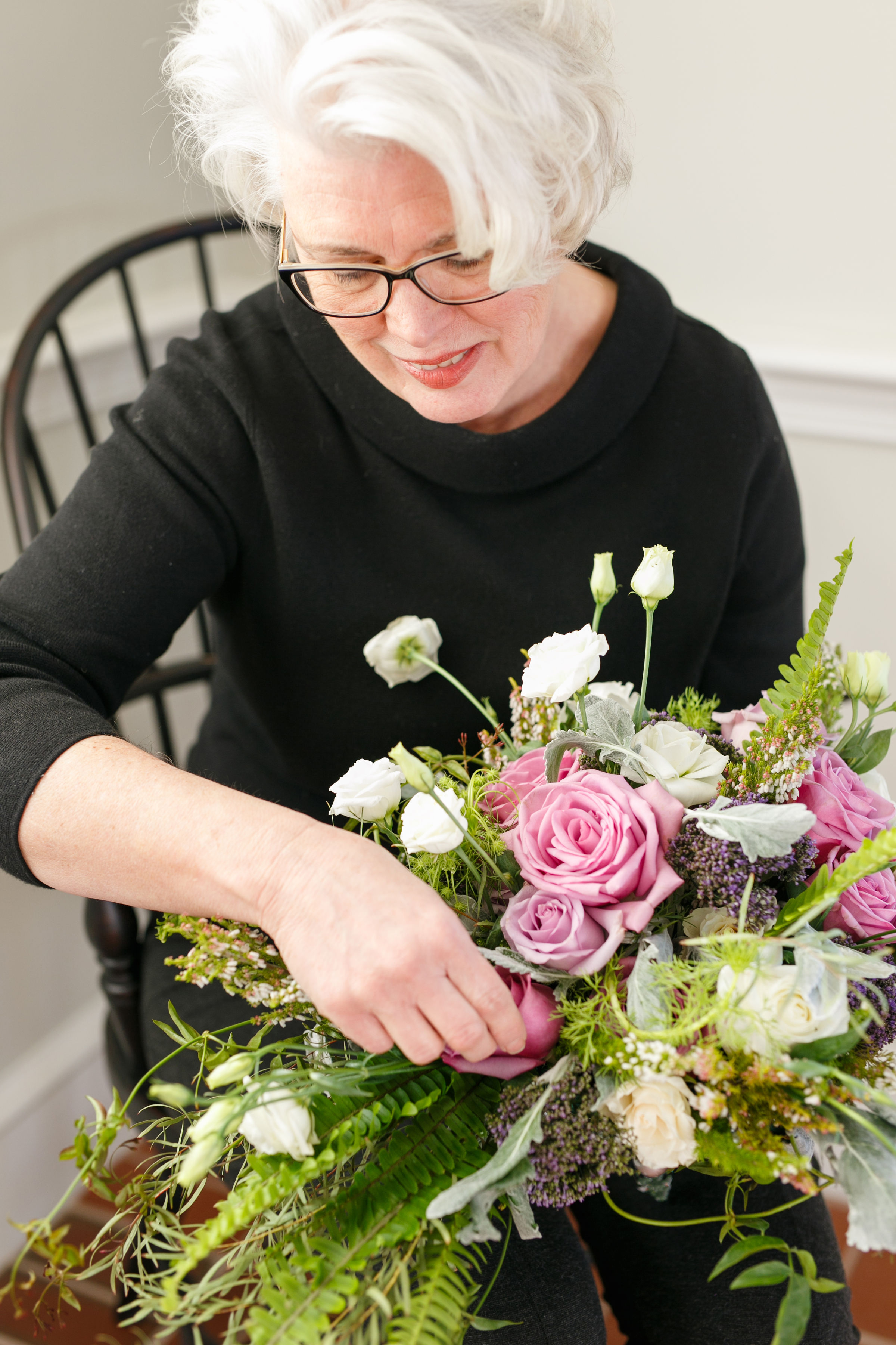 "Meet Pam! - ""I love doing floral design because it is a multi-sensory medium. The challenge of creating beautiful bouquets from the pictures brides show me is very exciting."""