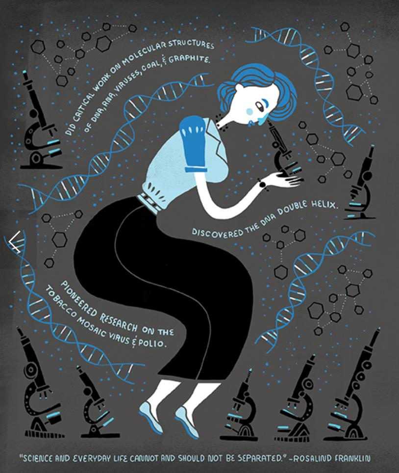 Women in Science Illustrations