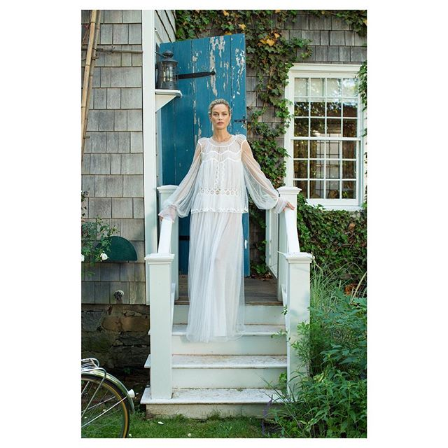 Carolyn in Sag Harbor for @beach_magazine