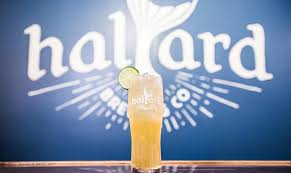 Halyard Logo with Cocktail in front of it
