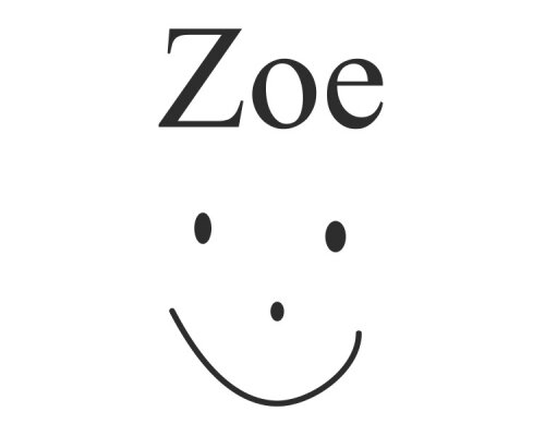 Zoe with a Smiley Face